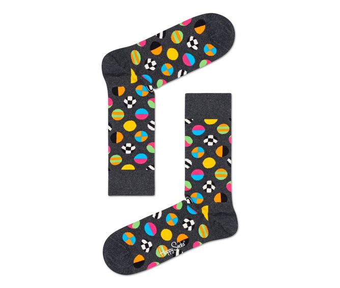 MEDIA-CASUAL-CLASHING-DOT-SOCK-BLUE-MULTICOLOR