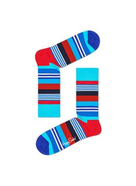 MEDIA-CASUAL-MULTI-STRIPE-SOCK-MULTICOLOR