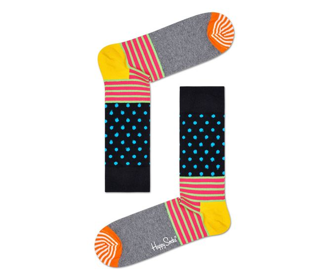 MEDIA-CASUAL-STRIPE-AND-DOT-SOCK-MULTICOLOR