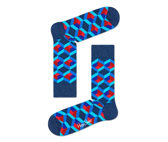 MEDIA-CASUAL-OPTIC-SQURE-SOCK-DARK-BLUE-MULTICOLOR