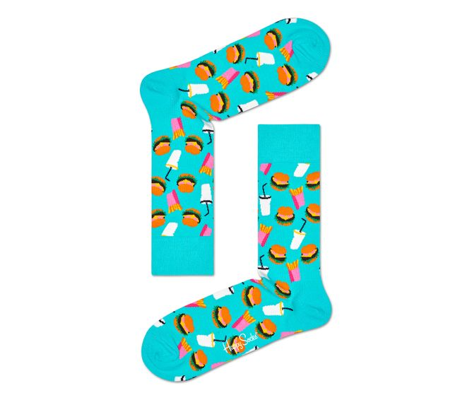MEDIA-CASUAL-HAMBURGER-SOCK-BLUE-MULTICOLOR